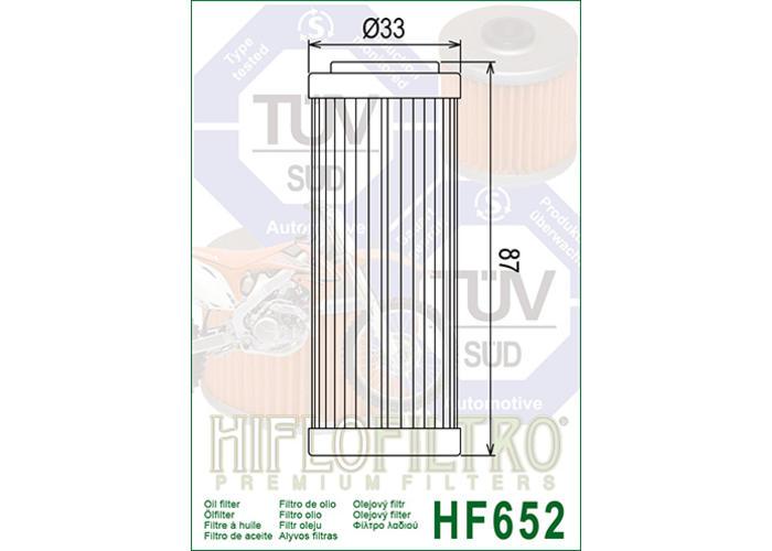 Hiflo HF652 Oliefilter