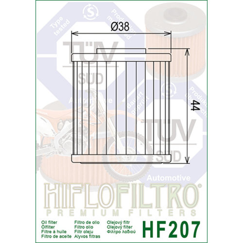 Hiflo Oil filter HF207