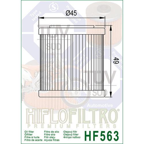 Hiflo HF563 Oliefilter