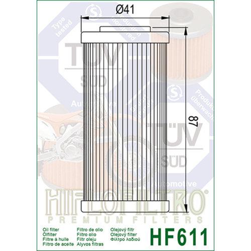 Hiflo HF611 Oliefilter