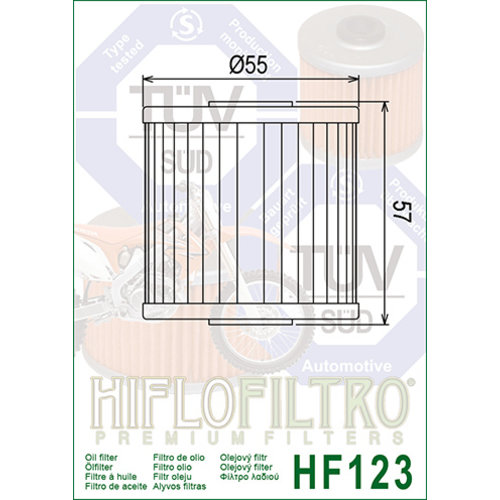 Hiflo HF123 Oliefilter