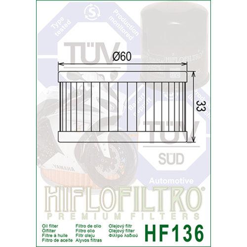 Hiflo HF136 Oliefilter