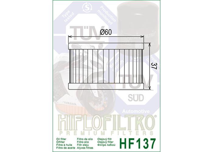 Hiflo HF137 Oliefilter