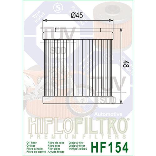 Hiflo HF154 Oliefilter