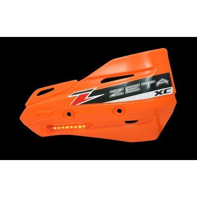 Zeta Armor-Guard XC Handbescherming met knipperlicht - Oranje