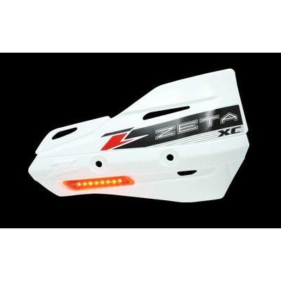 Zeta Armor-Guard XC Handbescherming met knipperlicht - Wit