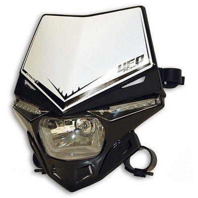 UFO Stealth Frontscheinwerfer mit LED und E-zertifiziert - Schwarz