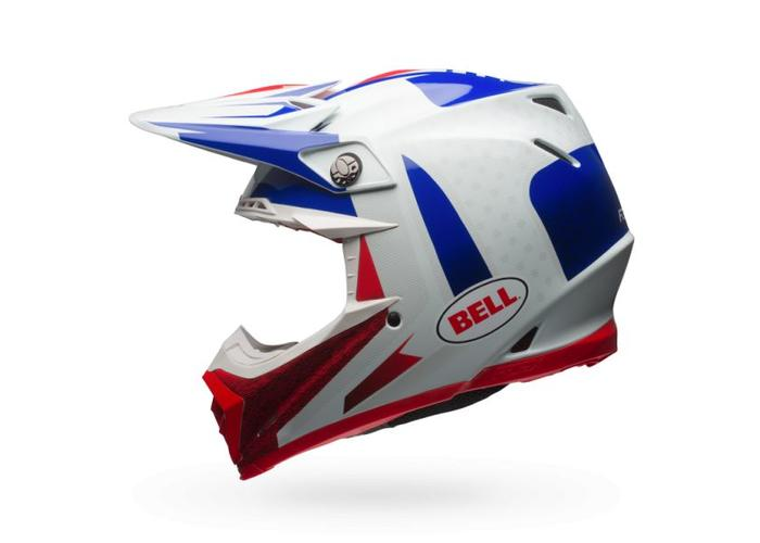 Bell Moto-9  Flex Carbon Vice Blue/Red