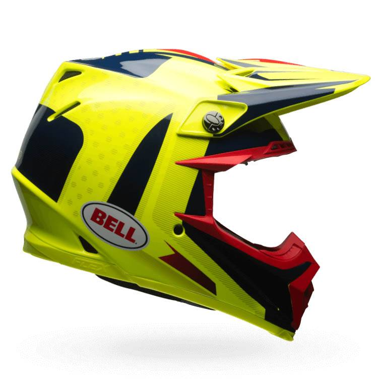 Bell Moto-9 Flex Replacement Visor Vice Blue//Red
