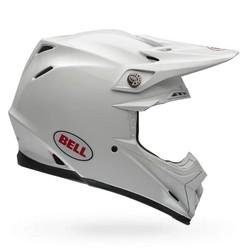 Moto-9 Flex Carbon Crosshelm Solid White