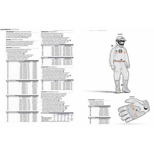 Moose Racing SX1 S7 Red/White/Blue Motorcross Gloves