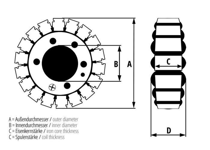 Stator ESG 829 Stator BMW F650CS (02-05) / F650GS (00-07)