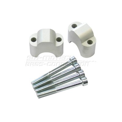 SW-Motech Handle Bar Riser, Silver Magura/ProTaper, KTM LC4/HUSQVN.+30mm