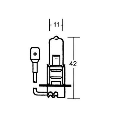 H3 Gloeilamp 12V 55W, PK 22S