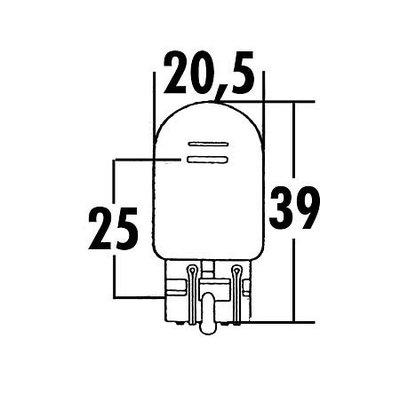 W21/5W, Glass Holder-Bulb 12V 21/5W W3x16Q