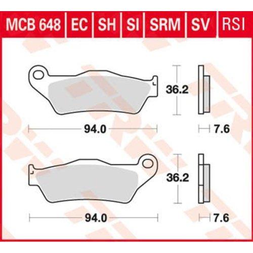TRW Sinter Disc Brake Pad MCB 648 SV