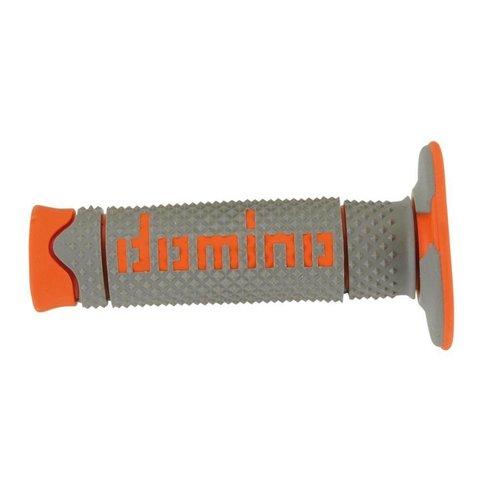 Domino Full Grip Handles Orange/Grey