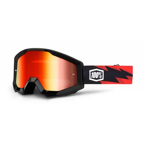 100% Goggle Strata Slash Black Aanti-Fog