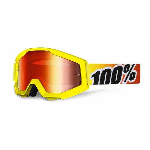 100% Goggle Strata Sunny Days Yellow Anti-Fog