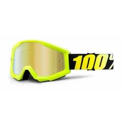 Crossbrille The Strata Neon Yellow - Gold Verspiegelt