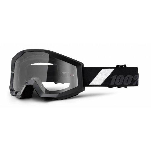 100% Goggle Strata Goliath Black Anti-Fog Clear Lens