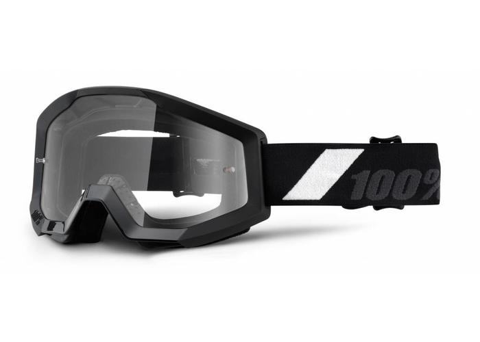 100% Goggle Strata Goliath Black Anti-Fog Clear Lens