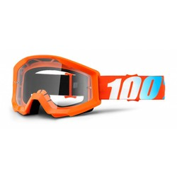 Goggle Strata Solid Orange Anti-Fog Clear Lens