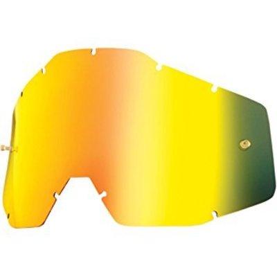 100% Ersatz Lens Racecraft/Accuti Anti-Fog Mirror Gold