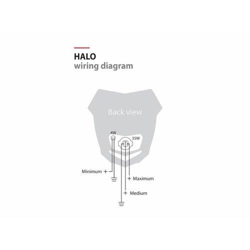Polisport Halo Koplamp Unit Kap -  Zwart /  Rood