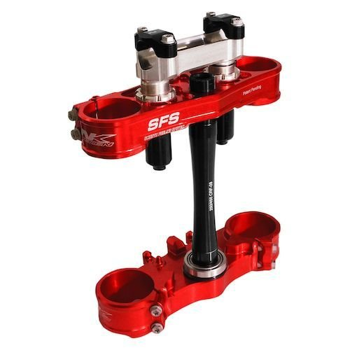 SFS Air Triple Clamp Red Honda CRF 250/450 2017/2018 - OnlyMX - For