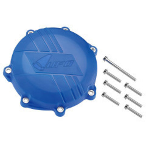 UFO YAMAHA YZF/WR 450 Clutch Cover + Mounting Kit - Blue