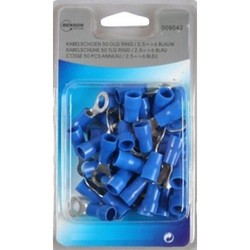 Cable Lug 50 Piece Female Ring // 2.5=>6 Blue