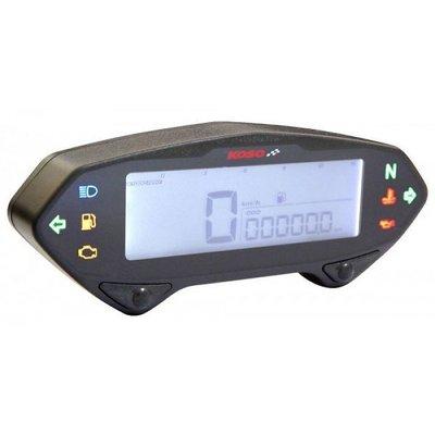 KOSO DB01RN Tachometer mit Drehzahlmesser, mit E-Zeichen und ABE