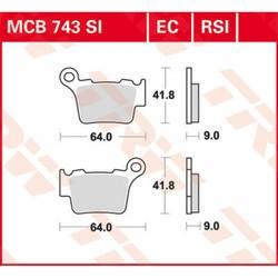 Brake pads Sinter MCB743SI