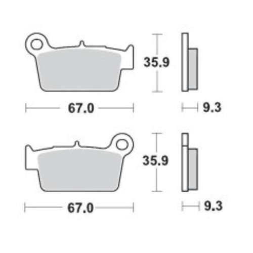 Moto-Master REAR BRAKE PADS OFFROAD NITRO SPORT 094522