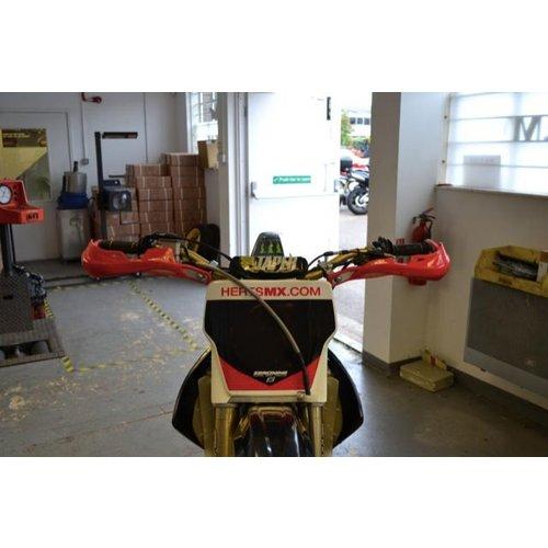 Handbescherming Motocross/Enduro Heavy Duty Rood