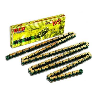 D.I.D CHAIN 520VX2 GOLD & BLACK 122 PRESSURE CLIP