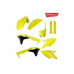 Kawasaki KX250F 17-18 Fluor Gelb Kunststoff Kit