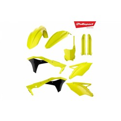 Kawasaki KX250F 17-18 Fluor Yellow Plastic Kit