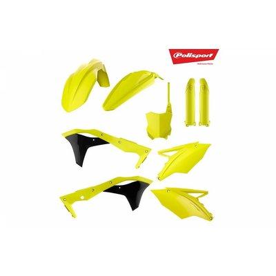 Polisport Kawasaki KX250F 17-18 Fluor Gelb Kunststoff Kit