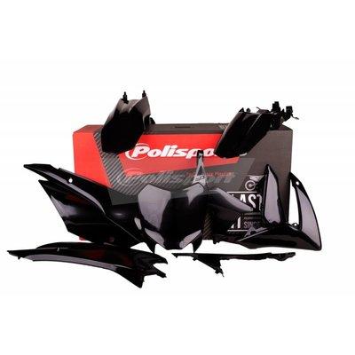 Polisport Honda CRF110F 13-17 Schwarz Kunststoff Kit