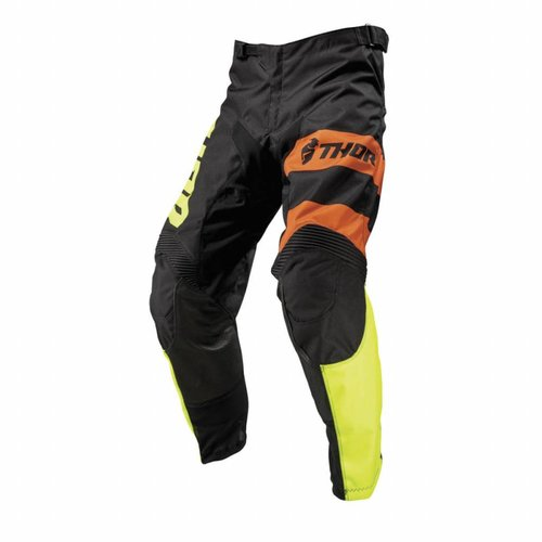 Thor PULSE SAVAGE BIG CAT S9 OFFROAD PANTS BLACK / LIME 2019