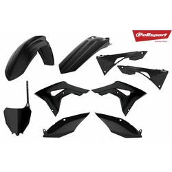 Honda CRF450R 17-18 Schwarz Kunststoff Kit