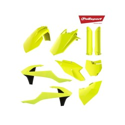 KTM SX-F125 / 250/350/450 16-18 Fluor-Gelb-Kunststoff-Kit