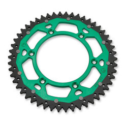 DUAL REAR SPROCKET KAWASAKI GREEN