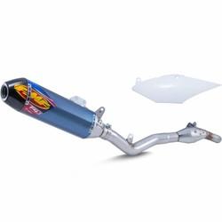 Honda CRF450R/RX (2017-2018) FACTORY 4.1 RCT / titanium dempers / koolstofvezel eindkap / roestvrij staal MegaBomb header / zijpaneel