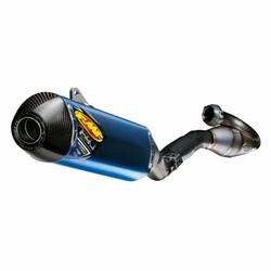 Husqvarna FC 450/FE 501 (2014-2015) FACTORY 4.1 RCT / MegaBomb header / blauw geanodiseerd titanium / koolstofvezel eindkap