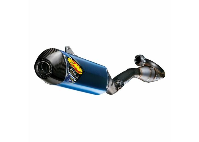 FMF Husqvarna FC 450/FE 501 (2014-2015) FACTORY 4.1 RCT / MegaBomb header / blauw geanodiseerd titanium / koolstofvezel eindkap