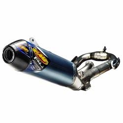 Yamaha YZ450F (2011-2017) FACTORY 4.1 RCT / blau eloxiert Titan / Titan Megabomb Header / Kohlefaser-Endkappe