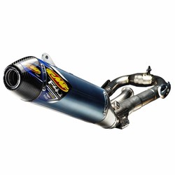 Yamaha YZ450F (2011-2017) FACTORY 4.1 RCT / blue anodized titanium / titanium Megabomb header / carbon fiber end cap